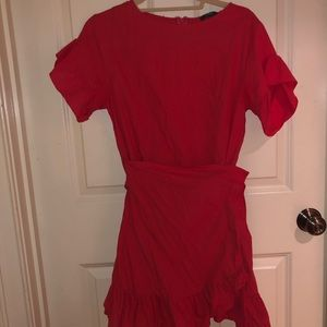 Dresses & Skirts - Wrap Red Cocktail Dress